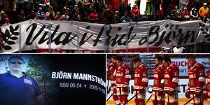 Björn Mannström hyllades innan nedsläpp mot Mora. Foto: Adam Johansson.
