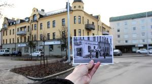 Där Dalarnas Försäkringsbolag ligger idag, i det så kallade Järnhandelshuset på Kungsgatan 27, flyttade Wilhelm Johanssons jernhandel in år 1903. En tidig vårdag 1941 samlas några herrar utanför, vid Shells bensinpump. Vem vet vad det är de pratar om – bensinransoneringen? De senaste nyheterna från kriget som rasar? Järnhandeln, som med tiden blev länets största, låg kvar i samma lokaler fram till 1974.