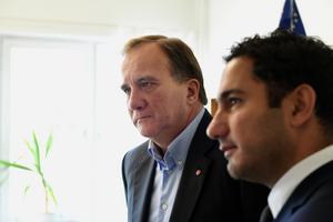 Statsminister Stefan Löfven (S) och civilminister Ardalan Shekarabi (S). Foto: Henrik Montgomery/TT