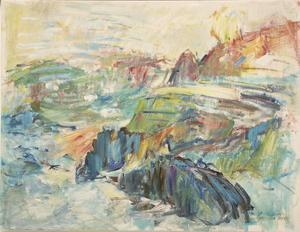 Oljemålning av Gunilla Ferm.