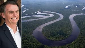 Amazonas och en president som hotar regnskogen och ursprungsbefolkningar. Foto: AP.
