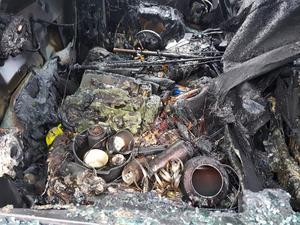 I bilen fanns fiskeutrustning och andra värdesaker. Bild: privat.