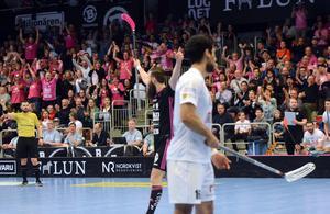 Drygt 2300 åskådare hejade fram Thomas Holmgren och IBF Falun till finalplatsen.