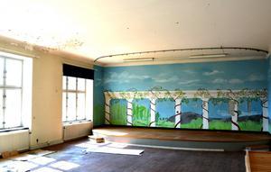 Samlingssalen ser ut som den gjorde när landstinget sålde Bodaborg till några privatpersoner i mitten av 1990-talet.