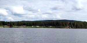 Så här En illustration över hur det kan se ut från Omsjön, utanför Näsåker. Foto: Forsca.