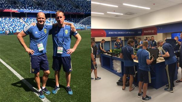 Johan Allgulander och det svenska landslaget på arenan där premiären mot Sydkorea ska spelas.
