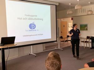Eva Svensson, psykolog från Feelsecure. Foto: Cina Kedvall