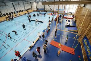 Novahallen, med bland annat basket, gymnastik och innebandy i.