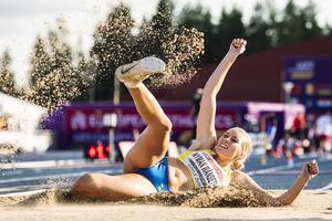 I helgen genomfördes lag–EM i Polen med två jämtländska deltagare – Emelie Nyman Wänseth och Erika Kinsey. Höjdhopperskan Kinsey slutade på en finfin andraplats, medan det gick tyngre för Nyman Wänseth, som slutade nia. Bilden är från en tidigare tävling. Bild: Erik Simander/TT.