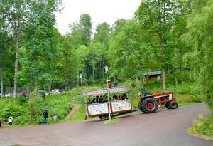 Efter Säterdalen väntade lunch på skolan för niorna och sedan åkte de till Gröna Lund.