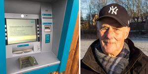Bankomaten i Nykvarn är ur funktion.  Illa, tycker SPF-ordförande Roger Bäckström.