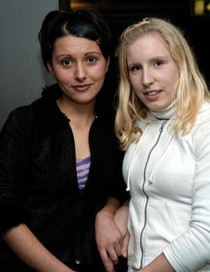 År 2000. Julietta Beka och Angelica Törnkvist på Extremes. Foto: Catharina Norén