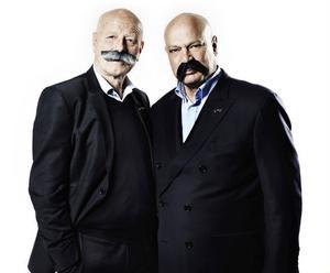 Gert Fylking och Robert Aschberg samlar in pengar genom Mustaschkampen till kampen mot prostatacancern.