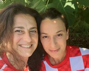 Nancy Lukic med dottern Martina Crnic Keran firade Kroatiens vinst.
