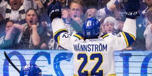 Sebastian Wännström blev tvåmålsskytt när Leksand premiärbesegrade Malmö med 5–2. Foto: Daniel Eriksson/Bildbyrån