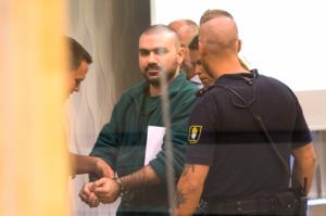 Alexander Faili under rättegången i Västmanlands tingsrätt.