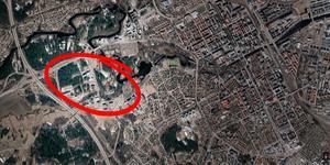 Bilen stannade vid Teknikparken. Bild: Google maps
