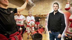 Andreas Hanson om avtalet mellan hockeyallsvenskan och SHL. Det är inte direkt läge att öppna champagnen för de hockeyallsvenska klubbarna, menar han. Foto: Bildbyrån
