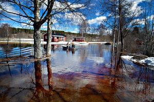 Vårfloden är kraftig i Norrbo.
