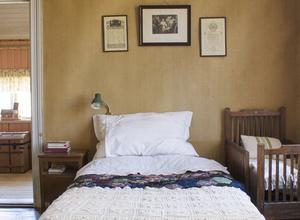 Sovrummet före tapetseringen. Foto: Erika Åberg
