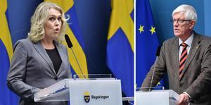 Socialminister Lena Hallengren (S) kallar till pressträff, medverkar gör bland andra Folkhälsomyndighetens generaldirektör Johan Carlson.