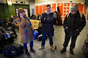 Mona-Lisa Lidberg, Mattias Eriksson och Ulf Gärdin är besvikna över att inte få någon information från Norrtåg.