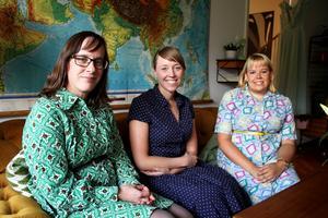 Anna Sandberg, Carolina Wahlberg och Eleonore Lundkvist från Västerås retro.