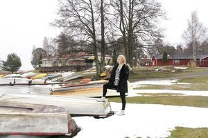 Vinterbilden 2014. Årets modell: Maria Gustavsson. Medeltemperatur: +0,4. Nederbörd: 163. Foto: Kristian Bircanin.