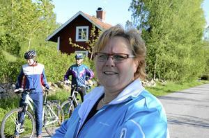 pass på. Motionären Anita Larsson tänker prova Cykelpasset. Foto: Åsa Eriksson