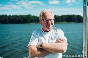 Lars-Erik Mickelsson, ordinarie befälhavare på m/s Moa.