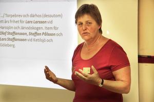 Maud Wedin gav ny kunskap om den skogsfinska traditionen i Järvsötrakten.