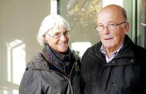 Christina och Ingvar Modig från Frösön var två av dem som besökte tingsrätten.
