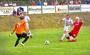 Niklas Holm blev matchvinnare för SFF med sitt segermål fram till 2–1 mot Stöde.