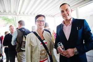 Maria Haglund (M) och Oskar Rådehed.