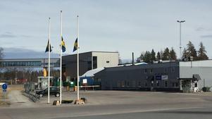 Spendrups bryggeri i Grängesberg, dagen efter attentatet i Stockholm.