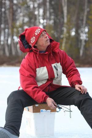 – Det här är livet, säger Laila Westling som kämpade på bra under den tre timmar långa tävlingen.