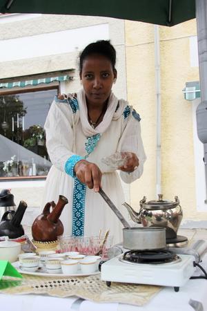 Nebiyat Haile gjorde eritreanskt kaffe.