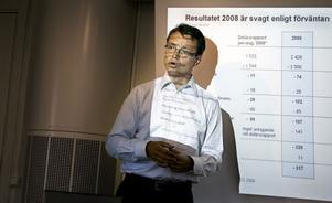 Jan-Olof Backman, avgående styrelseordförande i Sekabs moderbolag, hade endast dystra siffror att presentera för 2008, men var ändå optimistisk inför framtiden. Förlusten var till och med större än 2007 års bottenresultat.