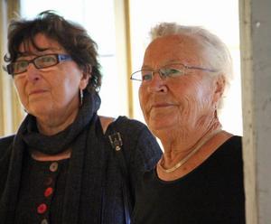 1. Hjördis J Becker från Gävle och Elsie Tapper, Sandarne visar både målningar och skulpturer på Kvarnen nu i september.
