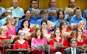 Carmina Burana-körfrossa på Konserthuset i mars i år.