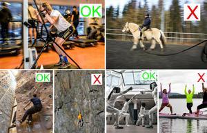 Ett gymkort är en skattefri motions- och friskvårdsförmån som arbetsgivaren kan erbjuda sin personal. Det är inte ridning. Klättervägg är en skattefri förmån - men inte bergsklättring. Fäktning är också okej, men inte Stand up paddle ( SUP).