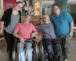 Therese Arvidsson, Magnus Kindåker, Anna Lundén och Emil Böhm i