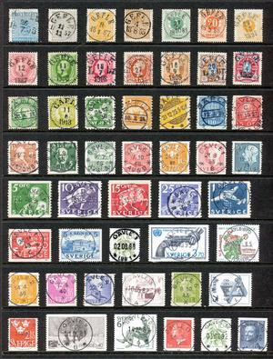 Det här är ett axplock av de frimärken som getts ut sedan 1855 med ett urval av olika stämpeltyper från Gävle. Samlare: Anders Weiss.