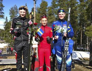 Tillsammans med Gustav Pålsson tog William Grip och Elias Engström-Skoog stafettguldet för Jämtland/Härjedalen i klassen H12-15.