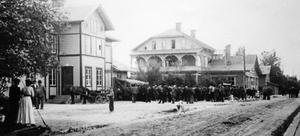 Stationsområdet under tidigt 1900-tal.