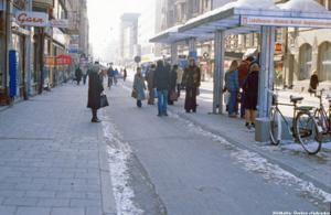 Storgatan. Året är 1980.