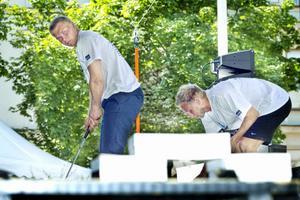 Alpina åkaren Björn Hedman, till vänster, vann allt fram till finalen. Där tog det stopp mot Hudiksvalls FF:s Erik Hellström.