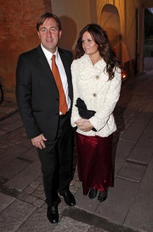 Bostadsbolaget Mimers vd Fredrik Törnqvist kom med hustrun Minna Rönn Törnqvist.