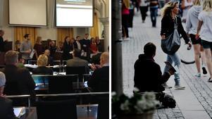 Kommunfullmäktige pågår under dagen, bland annat diskuteras tiggarsituationen i Örebro.