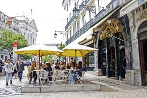 A Brasiliera, Lissabons mest berömda kafé.